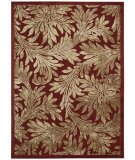 RugStudio presents Nourison Graphic Illusions Gil19 Red Machine Woven, Good Quality Area Rug