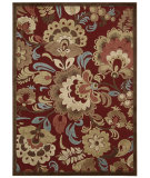 RugStudio presents Nourison Graphic Illusions Gil23 Red Machine Woven, Good Quality Area Rug