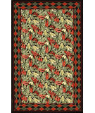 RugStudio presents Nourison Country Heritage H-063 Black Hand-Hooked Area Rug