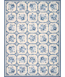 RugStudio presents Nourison Country Heritage H-307 Ivory-Blue Hand-Hooked Area Rug