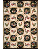 RugStudio presents Nourison Country Heritage H-319 Black Hand-Hooked Area Rug
