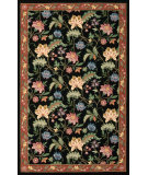 RugStudio presents Rugstudio Sample Sale 22991R Black Hand-Hooked Area Rug