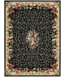 RugStudio presents Nourison Country Heritage H-358 Black Hand-Hooked Area Rug