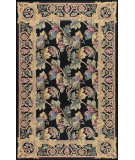 RugStudio presents Nourison Country Heritage H-582 Black Hand-Hooked Area Rug