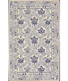 RugStudio presents Nourison Country Heritage H-664 Ivory Blue Hand-Hooked Area Rug