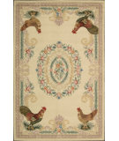 RugStudio presents Nourison Country Heritage H-691 Gold Hand-Hooked Area Rug