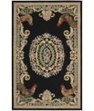 RugStudio presents Nourison Country Heritage H-691 Black Hand-Hooked Area Rug