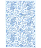 RugStudio presents Nourison Country Heritage H-701 Ivory-Blue Hand-Hooked Area Rug