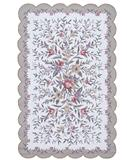 RugStudio presents Nourison Country Heritage H-723 Ivory-Green Hand-Hooked Area Rug