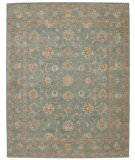 RugStudio presents Rugstudio Sample Sale 17107R Aqua Hand-Tufted, Best Quality Area Rug