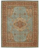 RugStudio presents Rugstudio Sample Sale 14774R Aqua Hand-Tufted, Best Quality Area Rug