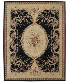 RugStudio presents Nourison Heritage Savonnerie HS-01 Black Hand-Tufted, Best Quality Area Rug