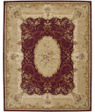 RugStudio presents Nourison Heritage Savonnerie HS-02 Burgundy Hand-Tufted, Best Quality Area Rug