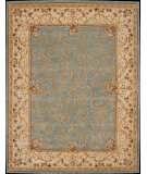 RugStudio presents Nourison Heritage Savonnerie HS-03 Turquoise Hand-Tufted, Best Quality Area Rug
