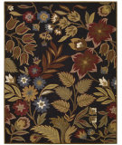 RugStudio presents Nourison In Bloom Inb01 Black Hand-Tufted, Good Quality Area Rug