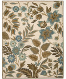 RugStudio presents Nourison In Bloom Inb01 Ivory Hand-Tufted, Good Quality Area Rug