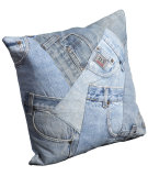 RugStudio presents Nourison Pillows Denim J1025 Blue