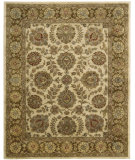 RugStudio presents Rugstudio Sample Sale 27854R Ivory-Brown Hand-Tufted, Best Quality Area Rug