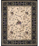 RugStudio presents Nourison Julian JL-49 Ivory Black Hand-Tufted, Good Quality Area Rug