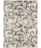RugStudio presents Kathy Ireland Ki02 Santa Barbara El Palacio Ki200 White/Fume Machine Woven, Best Quality Area Rug