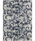 RugStudio presents Kathy Ireland Ki02 Santa Barbara El Palacio Ki200 White/Navy Machine Woven, Best Quality Area Rug