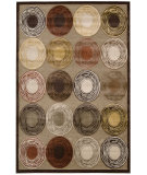 RugStudio presents Kathy Ireland Ki03 Bel Air Prelude Ki302 Brown Machine Woven, Best Quality Area Rug