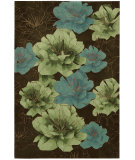 RugStudio presents Kathy Ireland Ki04 Palisades Joshua Blossom Ki401 Chocolate Woven Area Rug