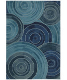RugStudio presents Kathy Ireland Ki04 Palisades Ovation Ki402 Denim Woven Area Rug