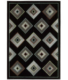 RugStudio presents Kathy Ireland Ki04 Palisades Retro Times Ki403 Black Woven Area Rug