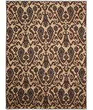 RugStudio presents Nourison Kindred Kin09 Ivory Brown Machine Woven, Good Quality Area Rug