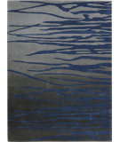 RugStudio presents Nourison Lakeside LAK01 Gray Navy Hand-Tufted, Good Quality Area Rug