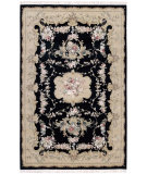 RugStudio presents Nourison Legacy LE-32 Black Hand-Knotted, Better Quality Area Rug