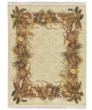 RugStudio presents Nourison Legacy LE-39 Beige Hand-Knotted, Better Quality Area Rug