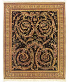 RugStudio presents Nourison Legacy LE-56 Black Hand-Knotted, Better Quality Area Rug