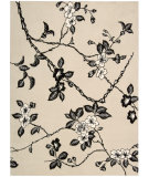 RugStudio presents Rugstudio Sample Sale 25316R Black-Ivory Hand-Tufted, Best Quality Area Rug