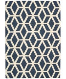 RugStudio presents Nourison Linear Lin01 Blue - Ivory Hand-Tufted, Good Quality Area Rug