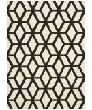 RugStudio presents Nourison Linear Lin01 Ivory - Black Hand-Tufted, Good Quality Area Rug
