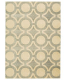 RugStudio presents Nourison Luminance Lum01 Cream Grey Machine Woven, Good Quality Area Rug
