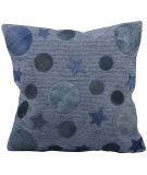 RugStudio presents Nourison Pillows Natural Leather Hide M917 Blue