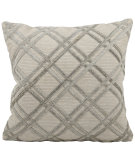 RugStudio presents Nourison Pillows Natural Leather Hide M918 Silver Grey
