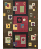 RugStudio presents Nourison Modern Art MDR-05 Chestnut Machine Woven, Good Quality Area Rug