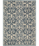 RugStudio presents Nourison Marina Mrn10 Denim Hand-Tufted, Good Quality Area Rug