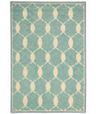 RugStudio presents Nourison Marina Mrn15 Aqua Hand-Tufted, Good Quality Area Rug