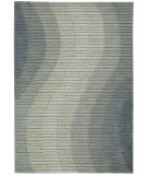 RugStudio presents Joseph Abboud Mulholland Mul01 Aqua Hand-Tufted, Best Quality Area Rug