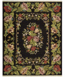 RugStudio presents Nourison Nourmak Encore Noe01 Black Flat-Woven Area Rug