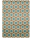 RugStudio presents Nourison Nova Nov01 Ivory Blue Machine Woven, Good Quality Area Rug