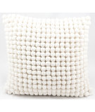 RugStudio presents Nourison Pillows Pom Pom36 Ivory