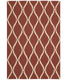 RugStudio presents Nourison Portico Por02 Red Hand-Tufted, Good Quality Area Rug