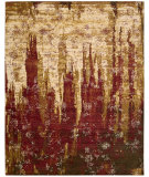RugStudio presents Nourison Rhapsody Rh006 Gold Garnet Machine Woven, Good Quality Area Rug