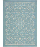 RugStudio presents Nourison Home and Garden RS-019 Light Blue Machine Woven, Good Quality Area Rug